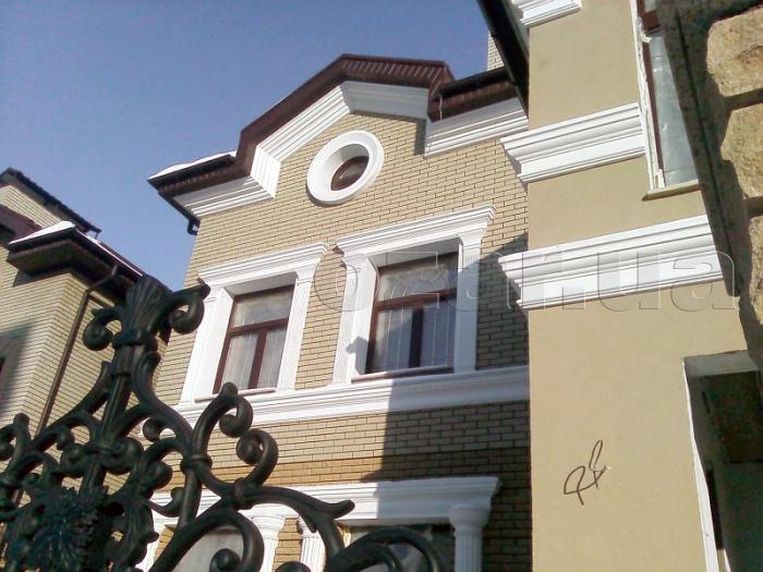 Декор фасада из пенопласта
