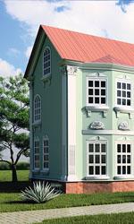 Один будинок - різні варіанти декору